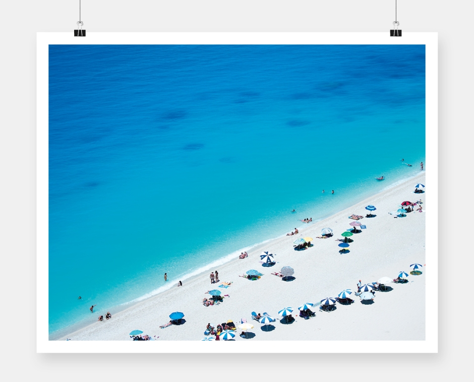 Lefkada photography poster cover_beach