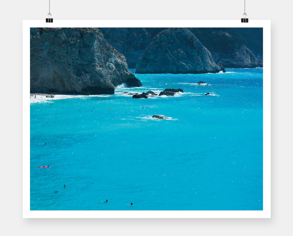 Lefkada photography poster cover_rocks