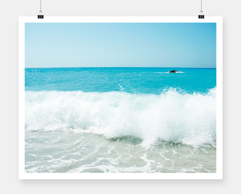 Lefkada photography poster cover_wave