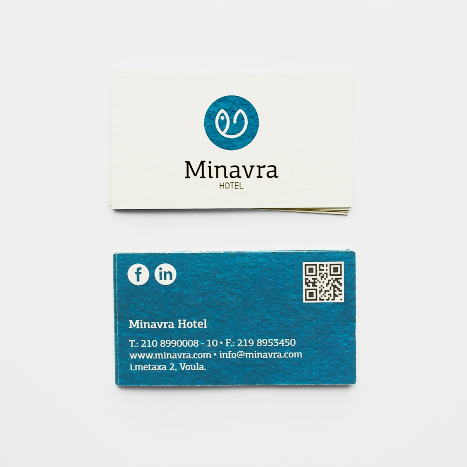 minavra Front - Back card