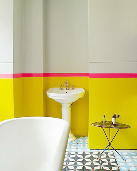 neon-yellow-bathroom-with-hot-pink-stripe