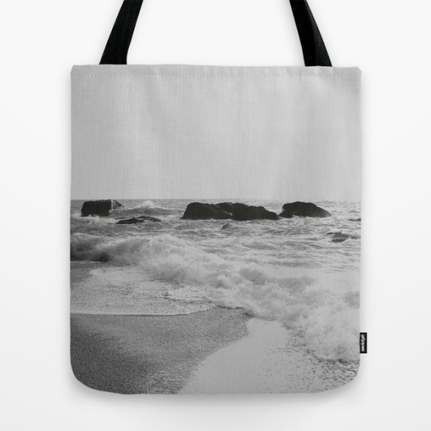 greek-seascape-black-and-grey-sea-rocks-ionia-island-lefkada-bags