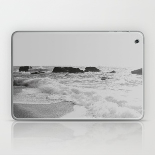 greek-seascape-black-and-grey-sea-rocks-ionia-island-lefkada-laptop-skins