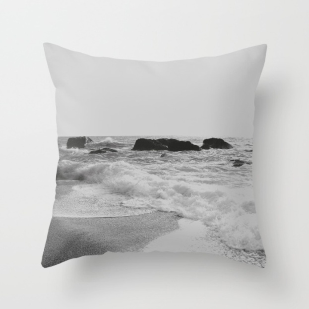 greek-seascape-black-and-grey-sea-rocks-ionia-island-lefkada-pillows