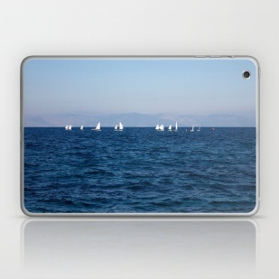 minimal-blue-mediterranean-sea-laptop-skins