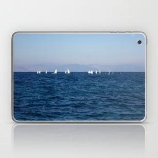 minimal-blue-mediterranean-sea-laptop-skins