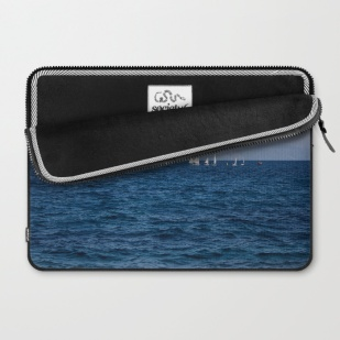 minimal-blue-mediterranean-sea-laptop-sleeves