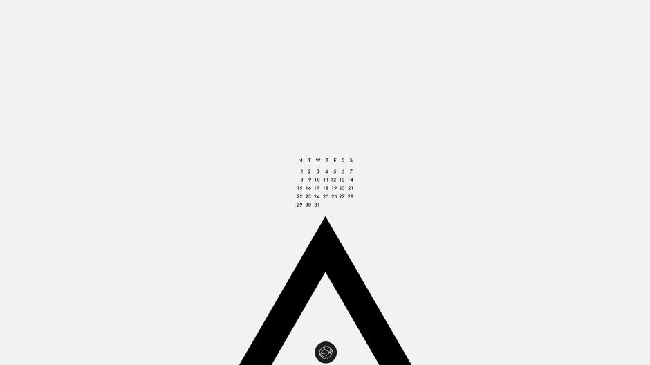 August wallpaper_white