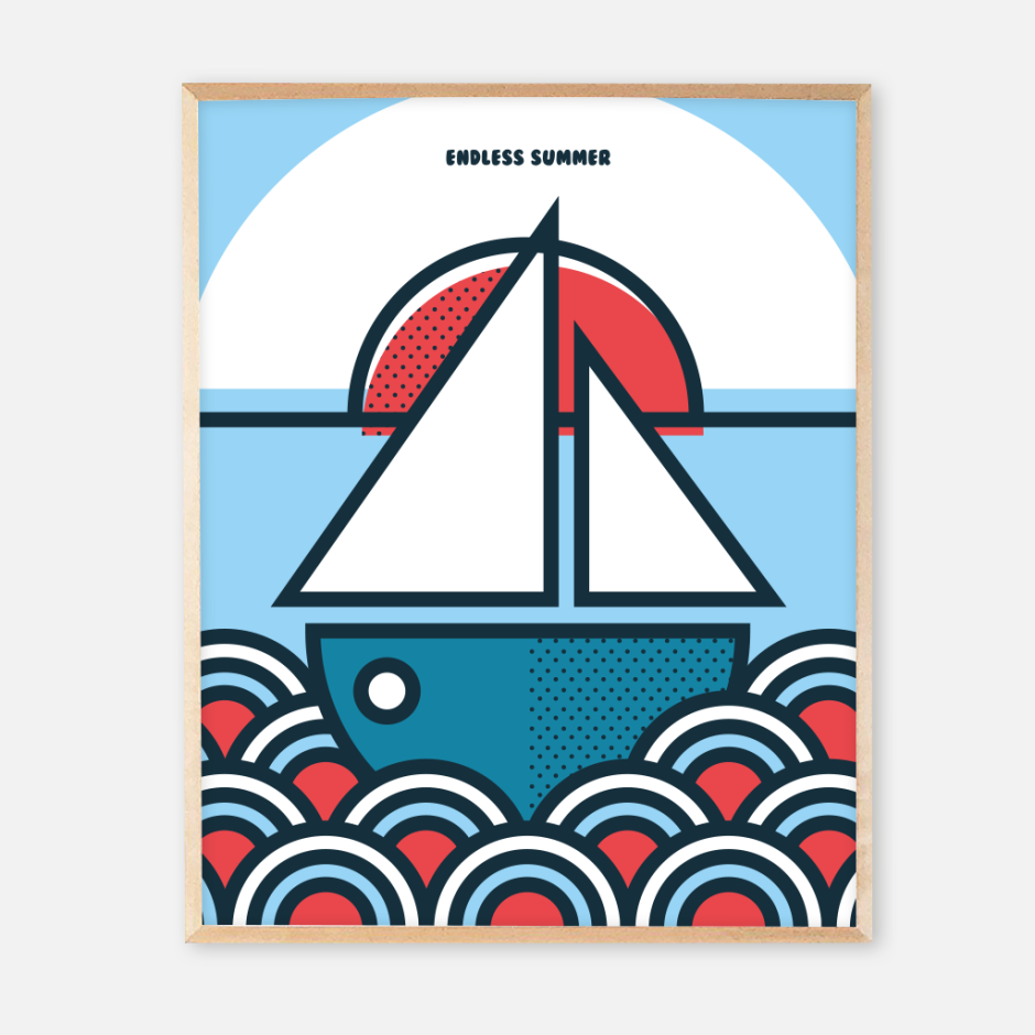 New frame endless summer posters_boat