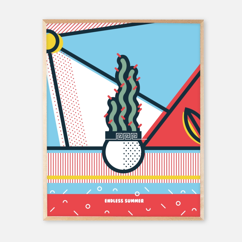 New frame endless summer posters_Cactus
