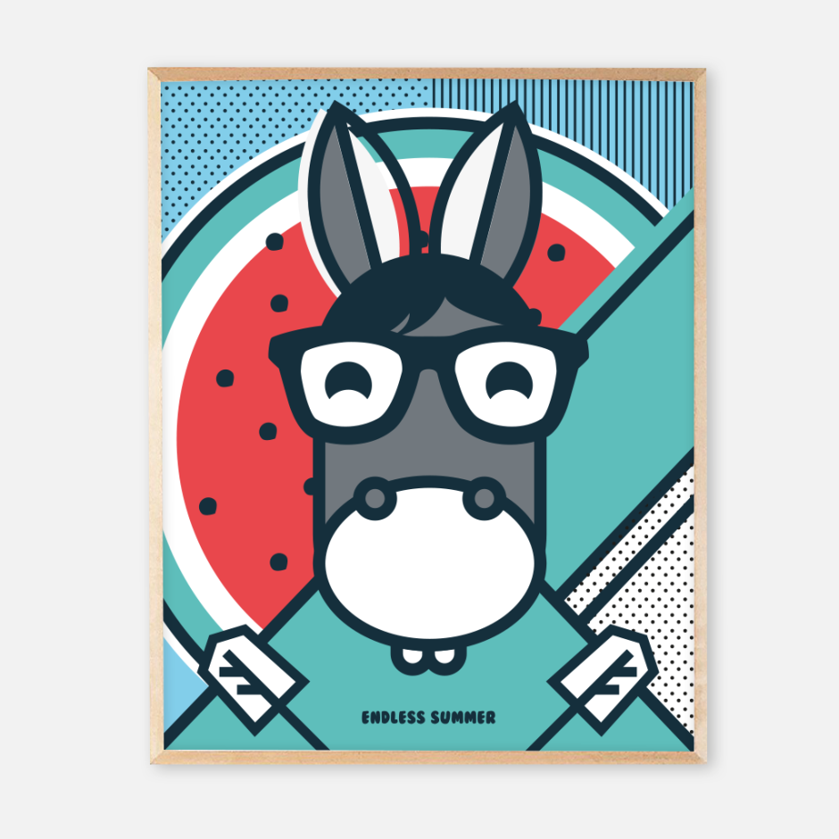 New frame endless summer posters_donkey