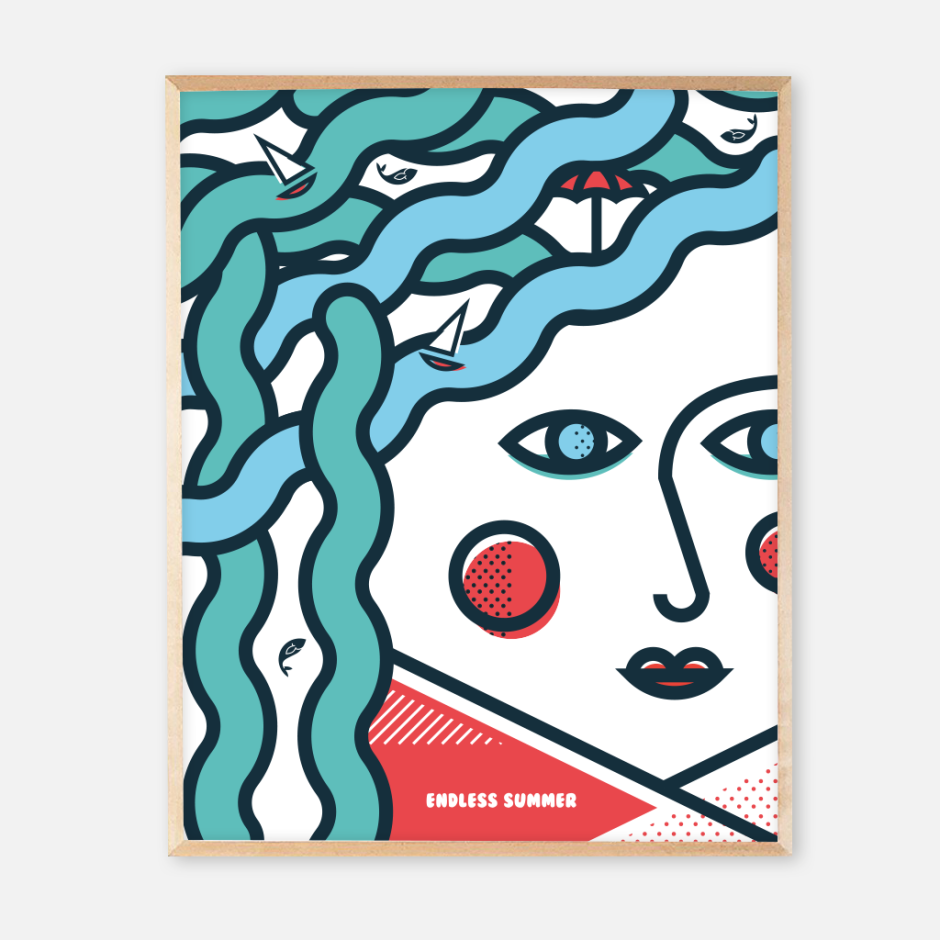 New frame endless summer posters_face