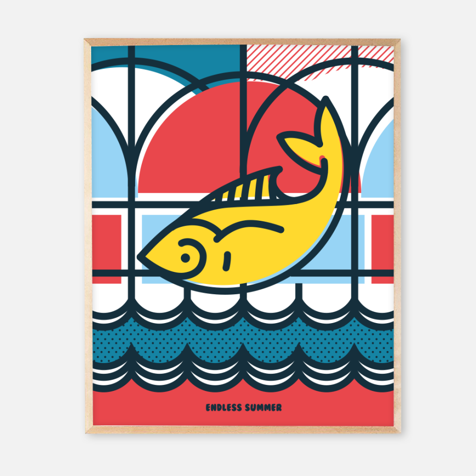 New frame endless summer posters_fish